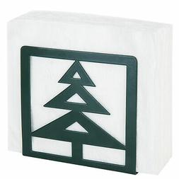 MyGift Christmas Tree-Design Green Metal Napkin Holder
