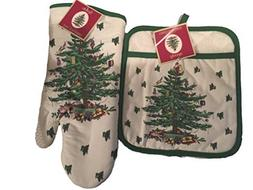Spode Christmas Tree 2-pc Kitchen Gift Set Includes Oven Mit