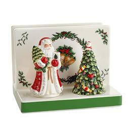 Spode Christmas Tree Napkin Holder with Salt & Pepper Set by
