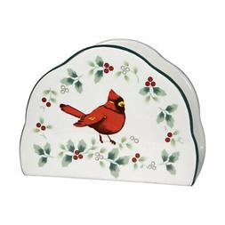 Pfaltzgraff Christmas  Winterberry Cardinal Napkin Holder