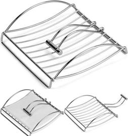 Chrome Paper Napkin Holder With Weighted Metal Arm Flat Napk