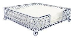 Chrome Plated Steel Infinity Collection Flat Napkin Holder O