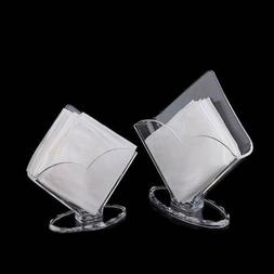 Clear Acrylic Napkin Holder Paper Serviette Dispenser Decora