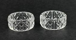 Clear Crystal Plastic Napkin Holder Rings 12 Pieces 2 inch