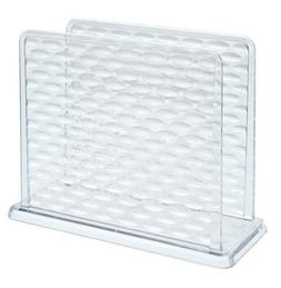 clear plastic textured napkin holder