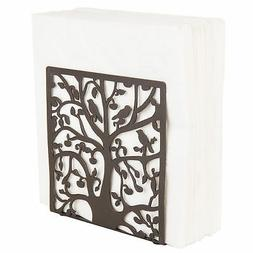 Coffee Metal Tree & Bird Design Tabletop Napkin Holder