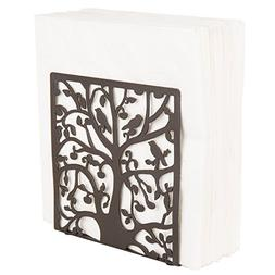 Coffee Metal Tree & Bird Design Tabletop Napkin Holder/Frees