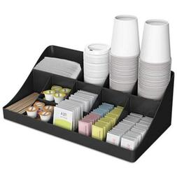 Mind Reader COMORGBLK 11-Compartment Coffee Condiment Organi