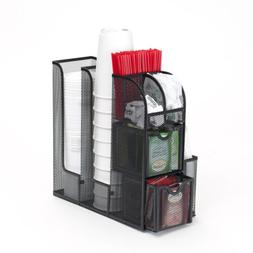 Mind Reader Condiment Caddy Organizer-Black Metal Mesh