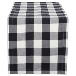 DII Cotton Buffalo Check Table Runner for Family Dinners or