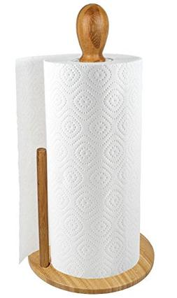 counter bamboo paper towel holder