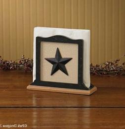 COUNTRY BLACKSTONE STAR NAPKIN HOLDER by PARK DESIGNS. COUNT