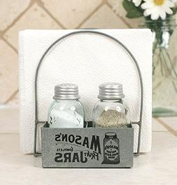 Country Napkin Holder Salt and Pepper Shaker Set