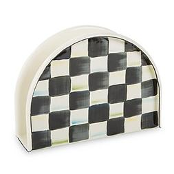 courtly check enamel napkin holder