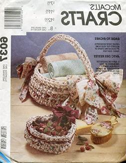 McCall's Crafts Pattern 6037 Rag Crochet Package