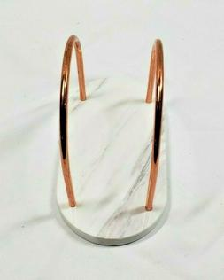 Creative Home 50241 Natural Marble and copper Wire Napkin Ho