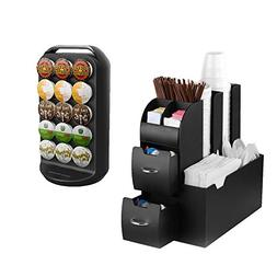 Mind Reader CRSCAD-BLK K-Cup Carousel and Coffee Condiment C