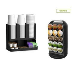 Mind Reader CRUP6-BLK K-Cup Carousel and Coffee Condiment/Cu