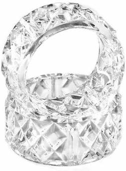 Crystal Look Acrylic Napkin Dining Table Rings Holder 6Pack