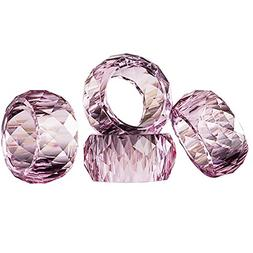 DONOUCLS Crystal Napkin Ring Holders - 2 inch, Table Party W