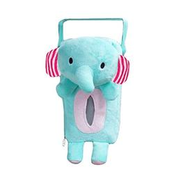 Xiaolanwelc@ 4 Colors Cute Animal Car Tissue Holder Back Han