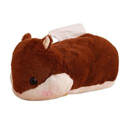 Yeefant 1 Pcs Cute Hamster Soft Plush Paper towel Box Home D