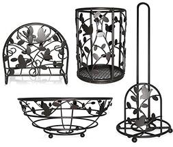Deluxe Bird Song Collection 4pc Kitchen Table Décor Set, Na