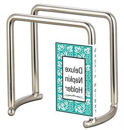 DINY Home & Style Deluxe Brushed Steel Napkin Holder Weighte