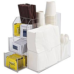 Deluxe Coffee Cups and Condiments Clear Acrylic Organizer Ca