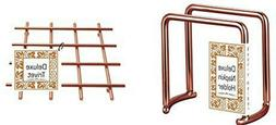 Deluxe Copper Heavy Weight Kitchen Napkin Holder and Trivet