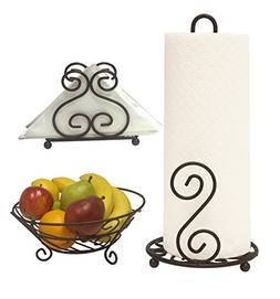 Deluxe Scroll Collection 3pc Kitchen Table Décor Set, Napki