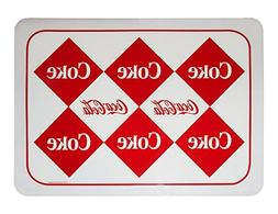 Coca-Cola Diamonds Plastic Placemat Set of 4
