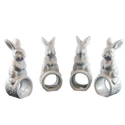 Easter Rabbit Napkin Ring Set- Set of 4