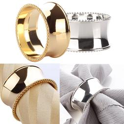 Elegant Napkin Round Ring Serviette Holder Wedding Banquet-D