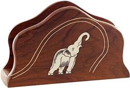 "SouvNear Kitc 6.5"" Wood Holder for Table - Trunk Up Elephant"