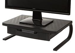 Mind Reader Extra Wide Monitor Stand, Monitor Riser with Pul