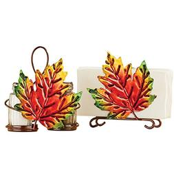 Fall Leaves Dining Table Accessories Set, Napkin Holder and