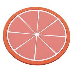 Lljin Fruit Coaster Colorful Silicone Cup Drinks Holder Mat