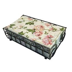 Garden Gate Antique Brass Guest Towel Caddy with 32 Count 3-