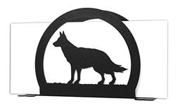 GERMAN SHEPHERD Metal Letter Napkin Card Holder