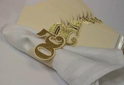 All About Details Gold 50 Napkin Holders, 12pcs