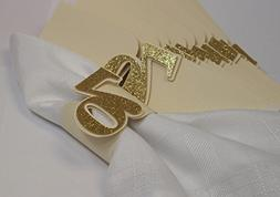 All About Details Gold 70 Napkin Holders, 12pcs