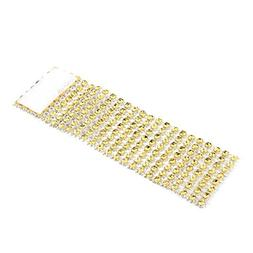 100Pcs Gold Napkin Rings Shiny Chair Sash Bows Holder 8 Rows