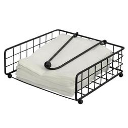 Grid Collection Non-Skid Free Standing Flat Napkin Holder, B
