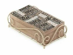 Boston International Guest Towel Caddy, Savannah Design in A