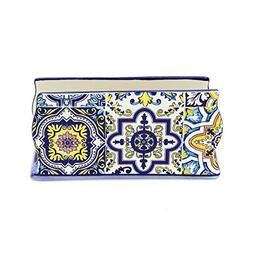 Hand-painted Traditional Portuguese Ceramic Napkin Holder