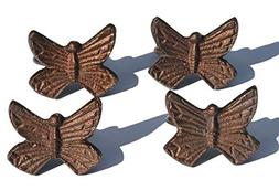 Vibhsa Handcrafted Decorative Butterfly Napkin Rings Set of