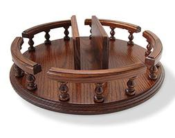"""Amish Handcrafted 14"""" Lazy Susan with Napkin Holder Turn Tab"""