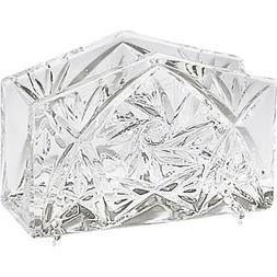 Handcut Crystal 4x3 Inch Napkin Holder - Pinwheel