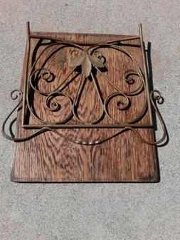 Handmade 1 of a kind oak, copper and brass, 8x10 Napkin Hold